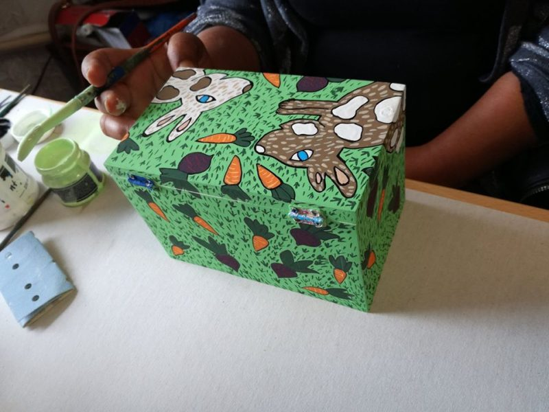 Bunnies wooden box in the making