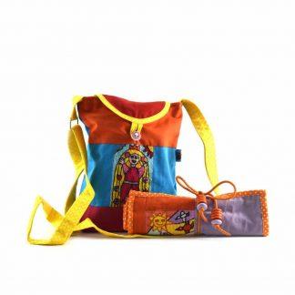 Narancs-színes napocskás-királylányos táskás ajándékcsomag