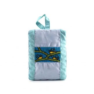 Türkiz három csigás pikk-pakk táska