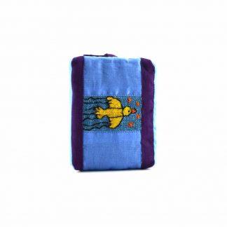 Lila-kék madaras pikk-pakk táska