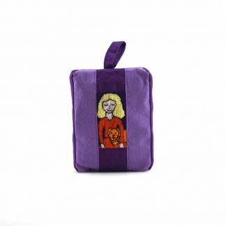 Lila kutyás lányos pikk-pakk táska