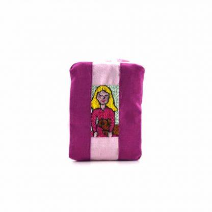 Pink-rózsaszín kutyás lányos pikk-pakk táska