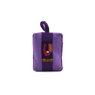 Lila pávás pikk-pakk táska