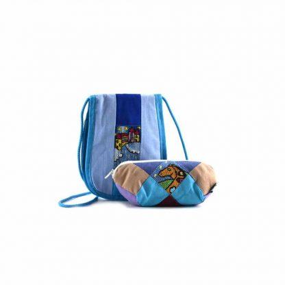 Kék pónis-házas ajándékcsomag
