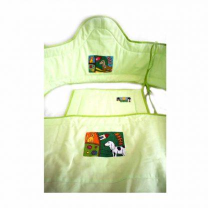 Zöld kutyás babakelengye