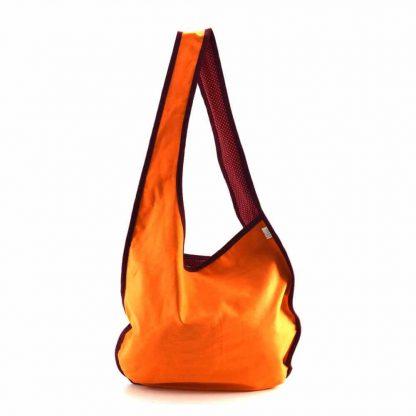 Narancs-piros pillangós hobbi táska