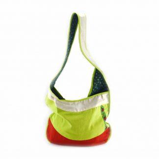 Bézs-zöld-katicás hobbi táska