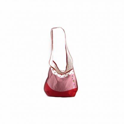 Piros-pöttyös színes baromfis hobbi táska