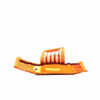 Narancs-türkiz madaras kulcstartó