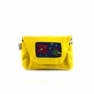 Sárga űrhajós papírzsebkendő tartó