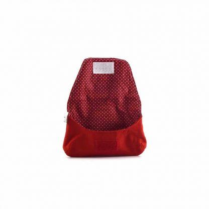 Piros házas-madaras papírzsebkendő tartó