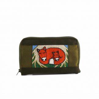 Zöld rókás pénztárca