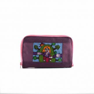 Lila lányos pénztárca