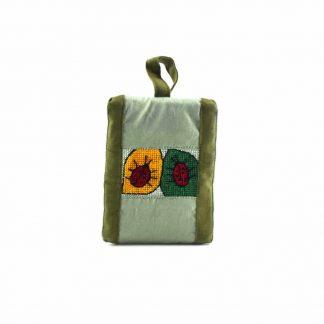 Zöld katicás pikk-pakk táska