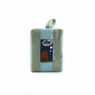 Zöld baglyos pikk-pakk táska