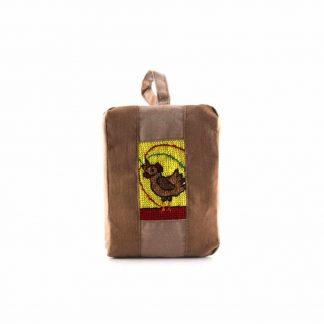 Barna kakasos pikk-pakk táska