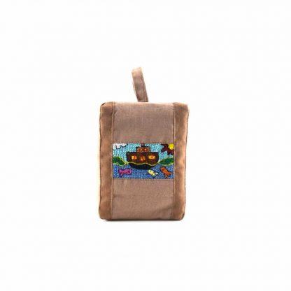 Barna hajós pikk-pakk táska