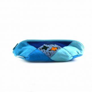 Kék kismadaras tolltartó