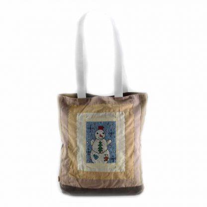 Barna hóemberes táska