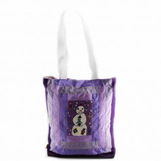 Lila hóemberes táska