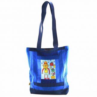 Kék ajándékdobozos táska