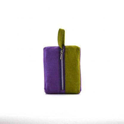 Lila-zöld napraforgós pikk-pakk táska