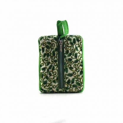 Zöld madáretetős pikk-pakk táska