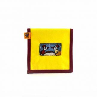 Sárga csibepáros mobil töltő tartó
