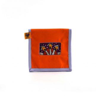 Narancs házikós mobil töltő tartó