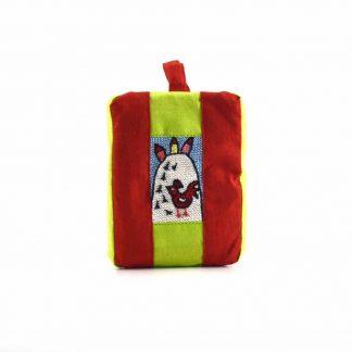 Piros havas-dombos pikk-pakk táska