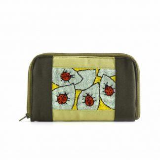Zöld katicás pénztárca