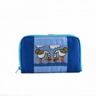 Kék madárpáros pénztárca