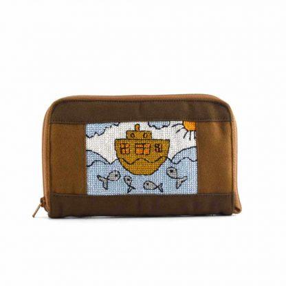Barna hajós pénztárca