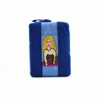 Kék kutyás-lányos pikk-pakk táska