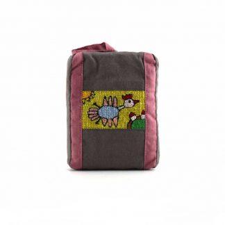 Barna madaras pikk-pakk táska