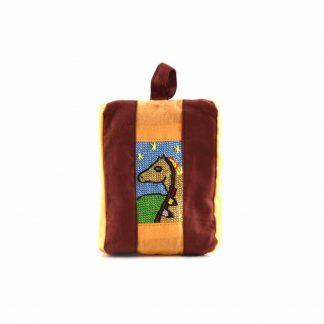 Barna-narancs lovas pikk-pakk táska