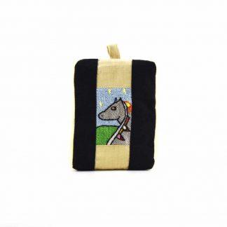 Fekete-drapp lovas pikk-pakk táska