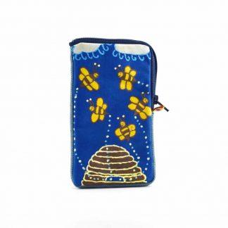 Kék méhecskés telefontartó