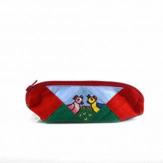Zöld-piros csibepáros tolltartó