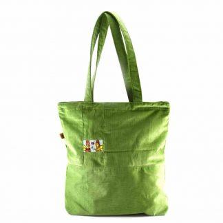 Zöld méhecskés bevásárló táska