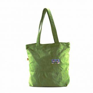Zöld csibepáros bevásárló táska