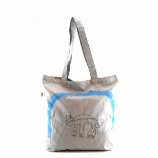 Szürke cicás bevásárló táska