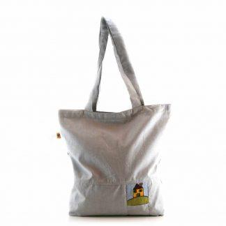 Szürke házas bevásárló táska