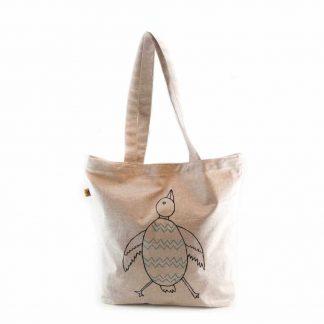 Drapp madaras bevásárló táska