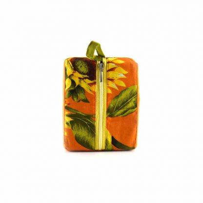 Zöld-narancs esős-madaras pikk-pakk táska