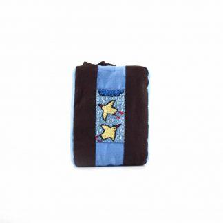 Barna-kék esős-madaras pikk-pakk táska