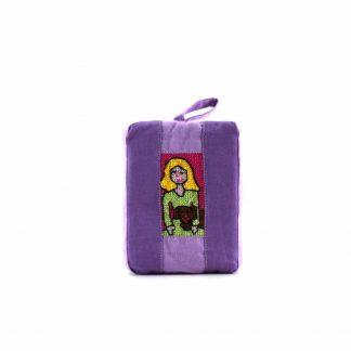 Lila lányos-kutyás pikk-pakk táska