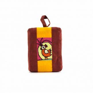 Barna-narancs kakasos pikk-pakk táska