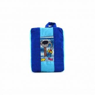 Kék halászó madaras pikk-pakk táska