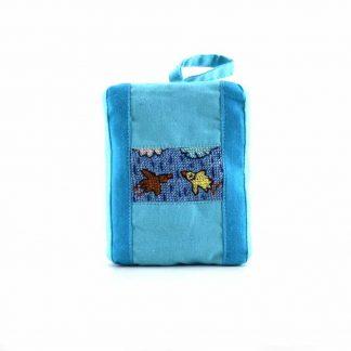 Kék esős-madaras pikk-pakk táska